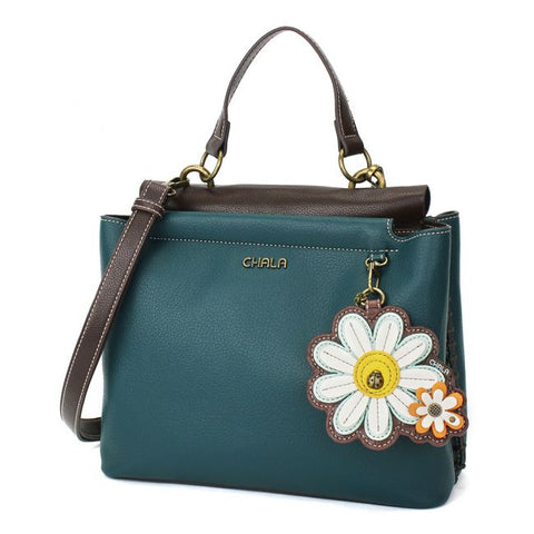 CHALA CHARMING TEAL SATCHEL - DAISY