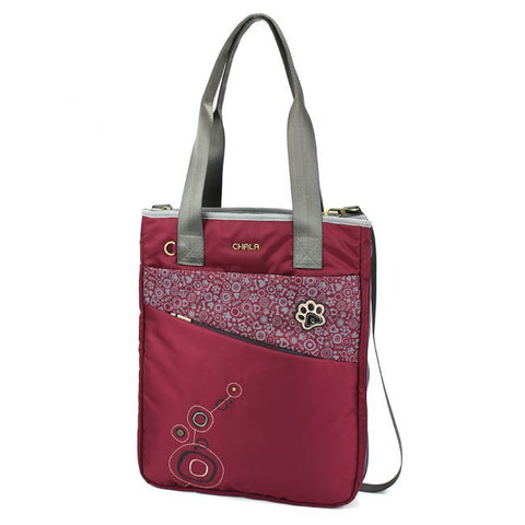 Chala Paw Print Venture Zip Around Tote