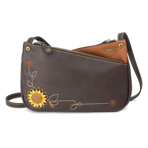 Chala Sunflower Criss Crossbody