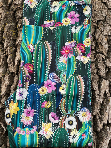 Beautiful Cactus Leggings with Pockets