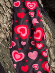 Pink/Red Hearts Leggings with Pockets