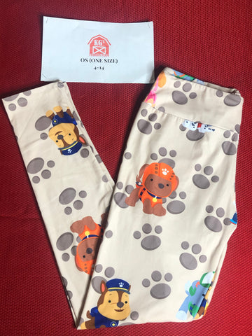 Tan Paw Patrol Leggings