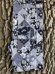 Black/Grey Floral Patchwork Leggings with Pockets