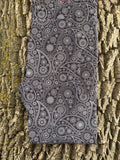 Black Paisley Legging with Pockets