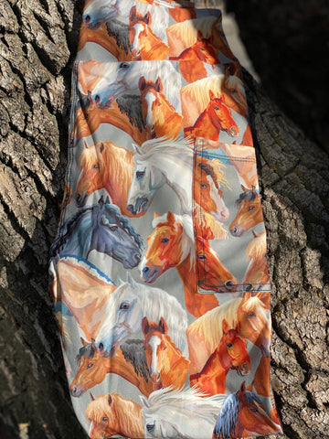 Horse Herd Leggings with Pockets