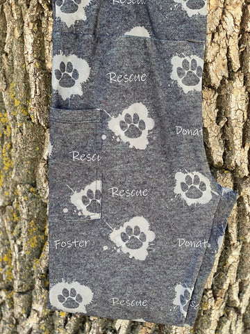 Gray Rescue Leggings w/Pockets