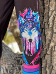 Bright Wolf Leggings with Pockets