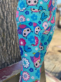 Spring Owls Leggings with Pockets