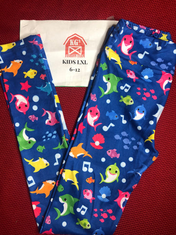 Kids Baby Shark Leggings