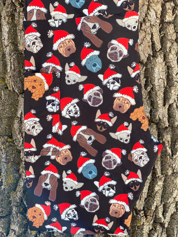 Santa Dogs Legging with Pockets