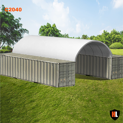C2040 - 20 x 40 ft Container Shelter
