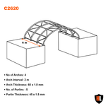 C2620 - 26 x 20 ft Container Shelter