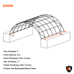 C4040 - 40 x 40 ft Container Shelter