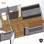 Office Cabin with Toilet and Shower