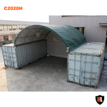 C2020H - 20 x 20 ft Container Shelter with Closed Back Panel