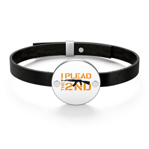 I Plead the 2nd Leather Bracelet (Made in the USA)