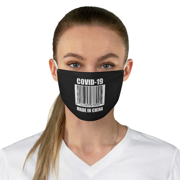 COVID-19 Made In China UPC Unisex Fabric Face Mask