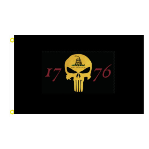 1776 Punisher Don't Tread on Me Gadsden 3'x5' 100D Rough Tex® Flag