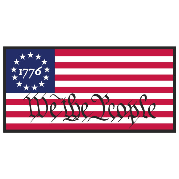 1776 We The People Betsy Ross Flag Bumper Sticker