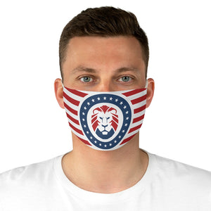 Patriot Party Lion Stripped Fabric Mask