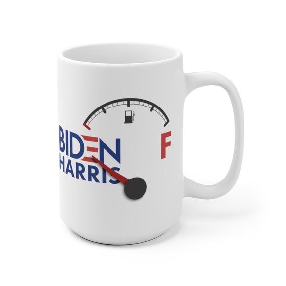 Biden Harris Fuel Gauge Empty Mug (2 Sizes)