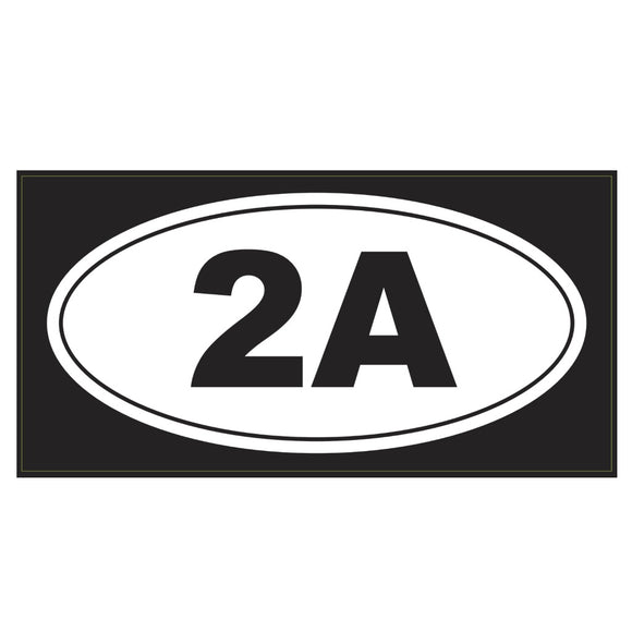2A Weatherproof Bumper Sticker