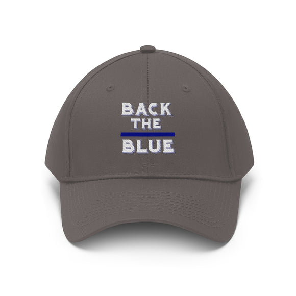 Back the Blue Unisex Twill Hat (Custom Embroidered)