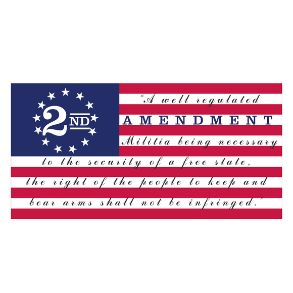 2nd Amendment Betsy Ross Flag Weatherproof Bumper Sticker
