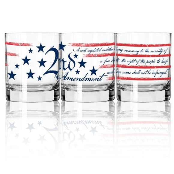 Handcrafted 2nd Amendment Rocks Glass