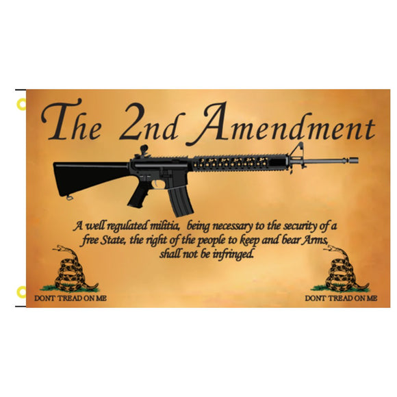 2nd Amendment Parchment DTOM 3'x5' 100D Rough Tex® Flag
