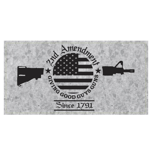 2nd Amendment Giving Good Guys Guns Since 1791 Weatherproof Sticker