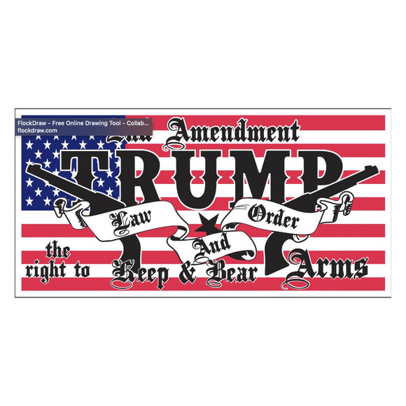 2nd Amendment Trump Law & Order Sticker