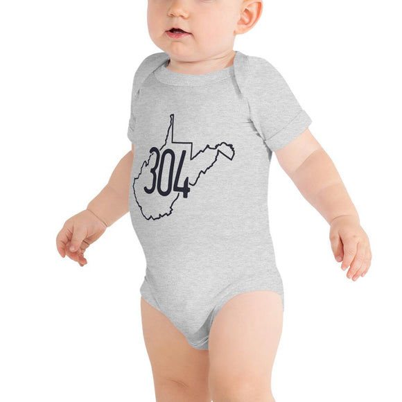 304 WV Onesie - Flag and Cross