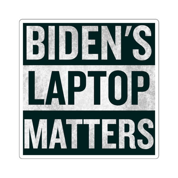 Biden's Laptop Matters Sticker (4 Sizes)