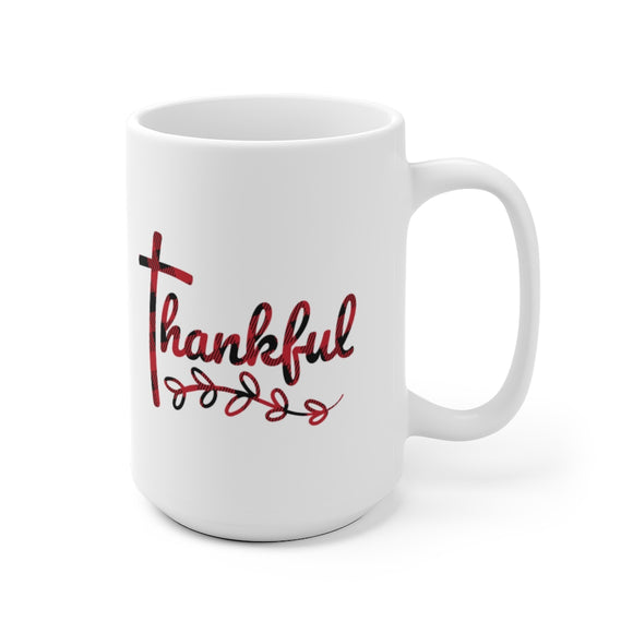 (Cross) Thankful Ceramic Mug (2 Sizes)