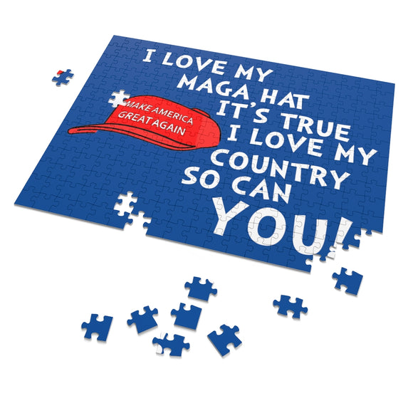 I Love My MAGA Hat It's True, I Love My Country So Can You 252 Piece Puzzle