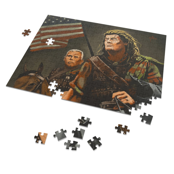Donald Trump as Braveheart (By Artist Doug Giles) 252 Piece Puzzle