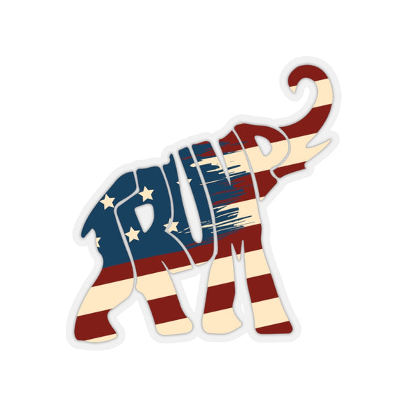 Trump Patriotic Elephant Sticker (4 Sizes)
