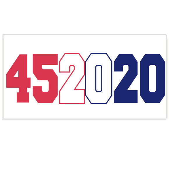 Trump 452020 Red White and Blue Weatherproof Sticker
