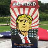 Trump #45 Coffee Blend + USA 45 Trump Blue 100% Cotton Hat Combo Deal