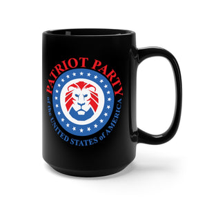 Patriot Party Lion Logo Black Ceramic Mug