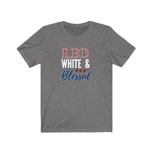Red White and Blessed Cotton Unisex T-Shirt