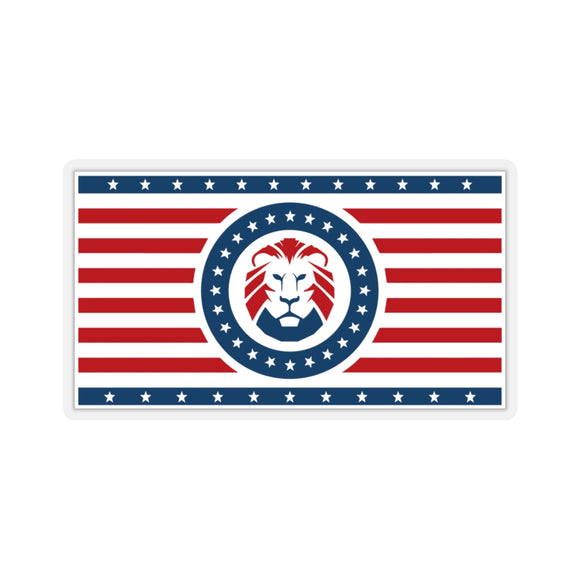 Patriot Party Lion Stripped Logo Sticker (4 sizes)