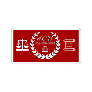 A.C.B. Amy Coney Barrett Scales of Justice Sticker (4 Sizes)