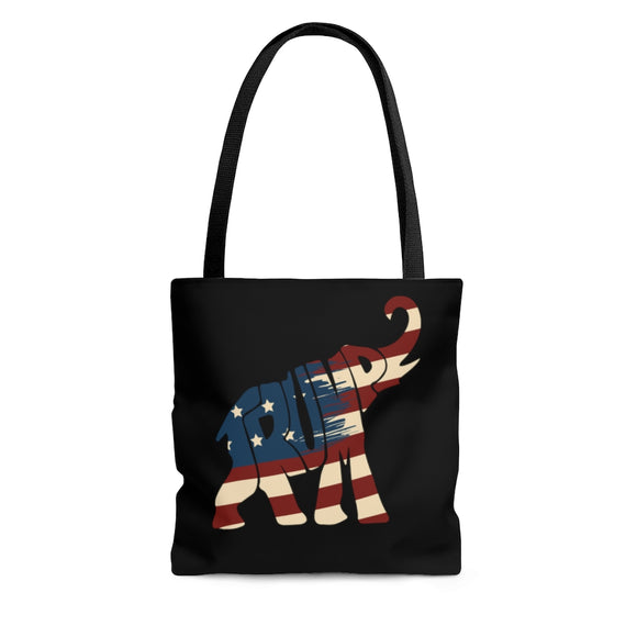 Trump Patriotic Elephant Tote Bag (3 Sizes)