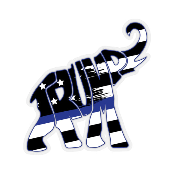Trump Elephant Thin Blue Line Sticker (4 Sizes)