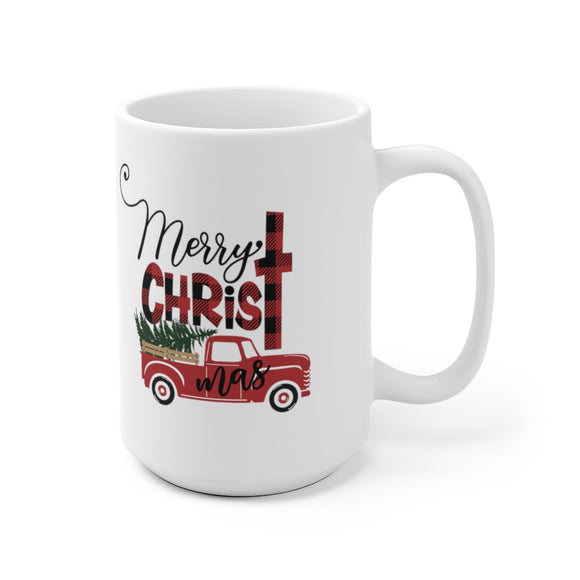 Merry CHRISTmas Ceramic Mug (2 Sizes)