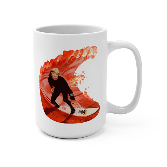 Trump Riding the Wave Ceramic Mug 15oz