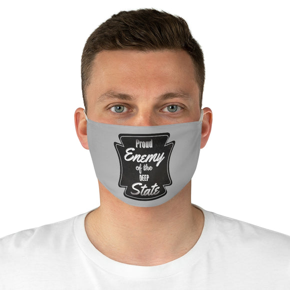 Proud Enemy of the Deep State Unisex Fabric Face Mask