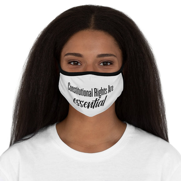 Constitutional Rights Are Essential Fitted Polyester Unisex Face Mask